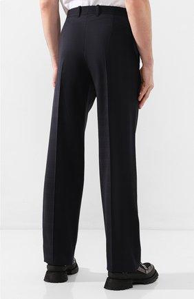 Мужские шерстяные брюки BALENCIAGA темно-синего цвета, арт. 601181/TGT01 | Фото 4