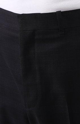 Мужские шерстяные брюки BALENCIAGA темно-синего цвета, арт. 601181/TGT01 | Фото 5