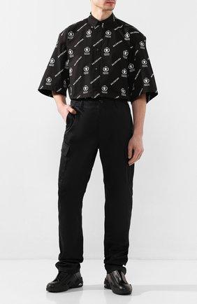 Мужской брюки-карго BALENCIAGA черного цвета, арт. 601170/TGQ07 | Фото 2