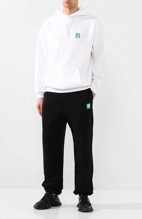 Мужские хлопковые джоггеры BALENCIAGA черного цвета, арт. 570812/THV64 | Фото 2