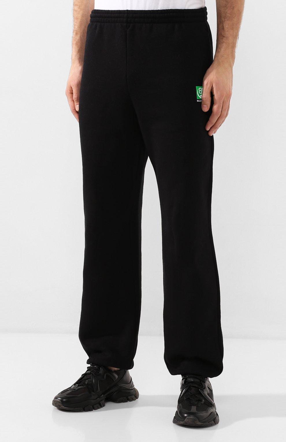 Мужские хлопковые джоггеры BALENCIAGA черного цвета, арт. 570812/THV64 | Фото 3