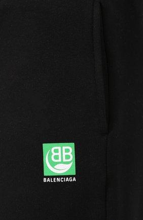Мужские хлопковые джоггеры BALENCIAGA черного цвета, арт. 570812/THV64 | Фото 5