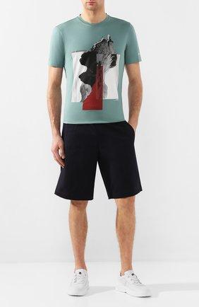 Мужская хлопковая футболка Z ZEGNA зеленого цвета, арт. VU372/ZZ630X   Фото 2