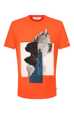 Мужская хлопковая футболка Z ZEGNA оранжевого цвета, арт. VU372/ZZ630X | Фото 1 (Мужское Кросс-КТ: Футболка-одежда; Рукава: Короткие; Материал внешний: Хлопок; Длина (для топов): Стандартные; Стили: Кэжуэл)