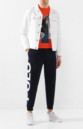 Мужская хлопковая футболка Z ZEGNA оранжевого цвета, арт. VU372/ZZ630X | Фото 2 (Мужское Кросс-КТ: Футболка-одежда; Рукава: Короткие; Материал внешний: Хлопок; Длина (для топов): Стандартные; Стили: Кэжуэл)