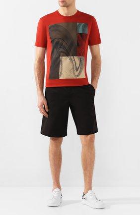 Мужская хлопковая футболка Z ZEGNA красного цвета, арт. VU372/ZZ630W   Фото 2
