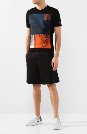 Мужская хлопковая футболка Z ZEGNA черного цвета, арт. VU372/ZZ630W | Фото 2