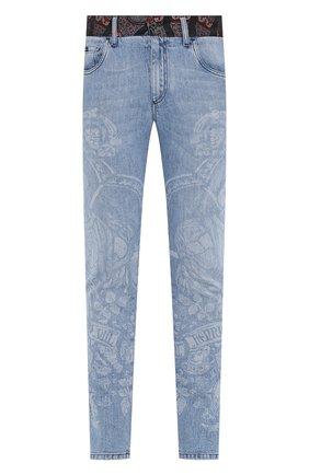 Мужские джинсы DOLCE & GABBANA голубого цвета, арт. GYC4LD/G8CF3   Фото 1