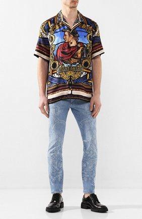 Мужские джинсы DOLCE & GABBANA голубого цвета, арт. GYC4LD/G8CF3   Фото 2