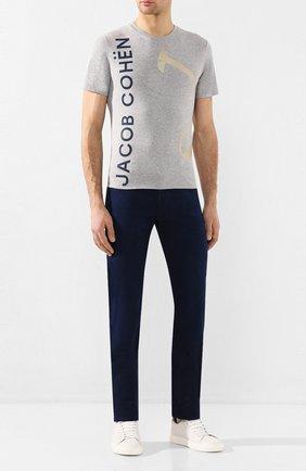 Мужская хлопковая футболка JACOB COHEN серого цвета, арт. J4091 S 01909-L/53   Фото 2