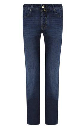 Мужские джинсы JACOB COHEN темно-синего цвета, арт. J620 C0MF 01843-W1/53 | Фото 1