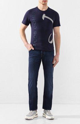 Мужские джинсы JACOB COHEN темно-синего цвета, арт. J620 C0MF 01843-W1/53 | Фото 2