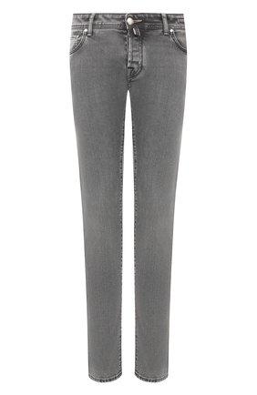Мужские джинсы JACOB COHEN темно-серого цвета, арт. J622 SLIM C0MF 01856-W3/53 | Фото 1