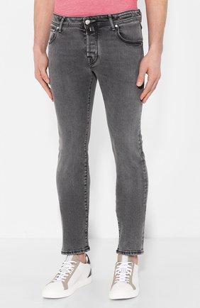 Мужские джинсы JACOB COHEN темно-серого цвета, арт. J622 SLIM C0MF 01856-W3/53 | Фото 3