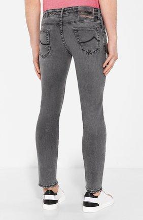 Мужские джинсы JACOB COHEN темно-серого цвета, арт. J622 SLIM C0MF 01856-W3/53 | Фото 4