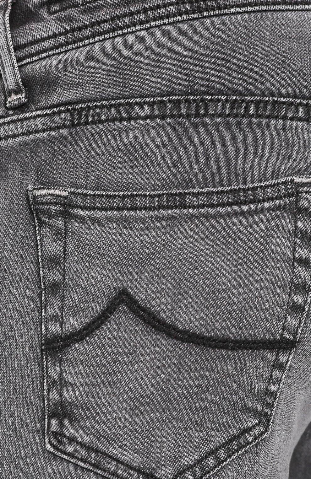 Мужские джинсы JACOB COHEN темно-серого цвета, арт. J622 SLIM C0MF 01856-W3/53 | Фото 5