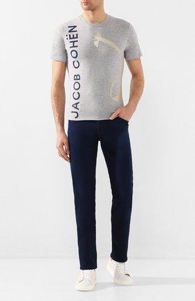 Мужские джинсы JACOB COHEN темно-синего цвета, арт. J625 C0MF 01846-W1/53   Фото 2