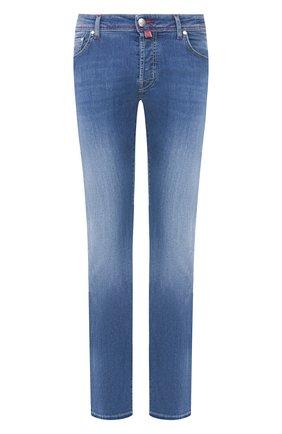 Мужские джинсы JACOB COHEN голубого цвета, арт. J688 C0MF 00979-W3/53 | Фото 1