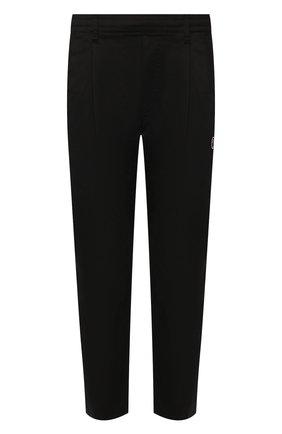 Мужской хлопковые брюки BAPE черного цвета, арт. 1G30152011   Фото 1