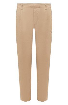 Мужской хлопковые брюки BAPE бежевого цвета, арт. 1G30152011 | Фото 1