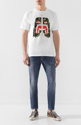 Мужская хлопковая футболка BAPE белого цвета, арт. 1G30110016 | Фото 2