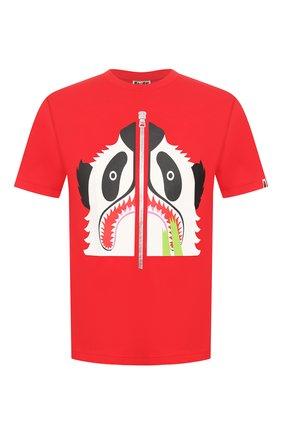 Мужская хлопковая футболка BAPE красного цвета, арт. 1G30110006 | Фото 1