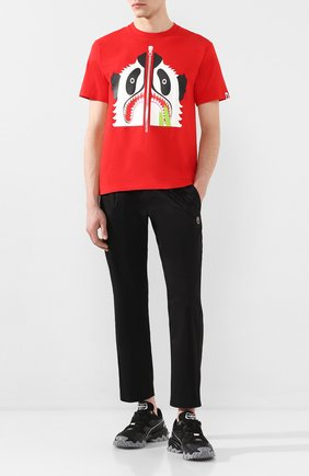 Мужская хлопковая футболка BAPE красного цвета, арт. 1G30110006 | Фото 2