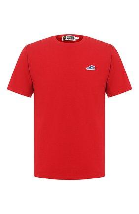 Мужская хлопковая футболка BAPE красного цвета, арт. 1G20109002 | Фото 1