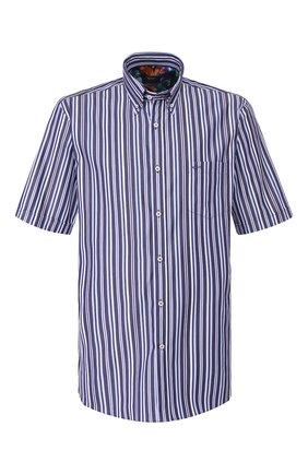 Мужская хлопковая рубашка PAUL&SHARK синего цвета, арт. E20P3227 | Фото 1
