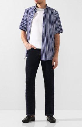 Мужская хлопковая рубашка PAUL&SHARK синего цвета, арт. E20P3227 | Фото 2