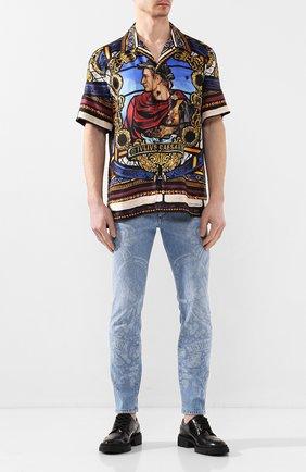 Мужская шелковая рубашка DOLCE & GABBANA разноцветного цвета, арт. G5FX9T/FI1K5 | Фото 2