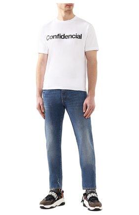 Мужская хлопковая футболка MARCELO BURLON белого цвета, арт. CMAA018S20JER008   Фото 2
