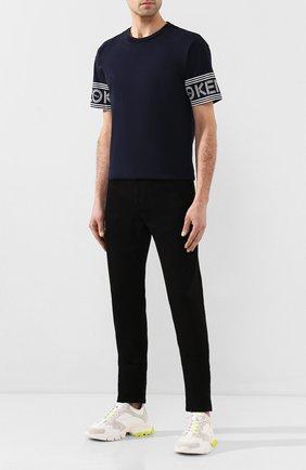 Мужская хлопковая футболка KENZO темно-синего цвета, арт. F565TS0434BD | Фото 2