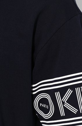 Мужская хлопковая футболка KENZO темно-синего цвета, арт. F565TS0434BD | Фото 5
