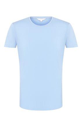 Мужская хлопковая футболка ORLEBAR BROWN голубого цвета, арт. 271142 | Фото 1