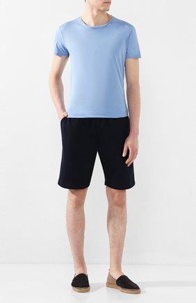 Мужская хлопковая футболка ORLEBAR BROWN голубого цвета, арт. 271142 | Фото 2