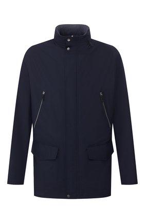 Мужская куртка ANDREA CAMPAGNA темно-синего цвета, арт. 30800E9BB5013 | Фото 1