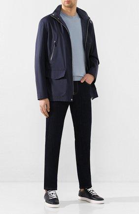 Мужская куртка ANDREA CAMPAGNA темно-синего цвета, арт. 30800E9BB5013 | Фото 2