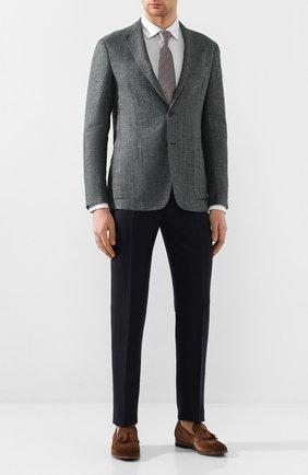 Мужской пиджак из смеси льна и шерсти Z ZEGNA зеленого цвета, арт. 742728/1D7SG0 | Фото 2