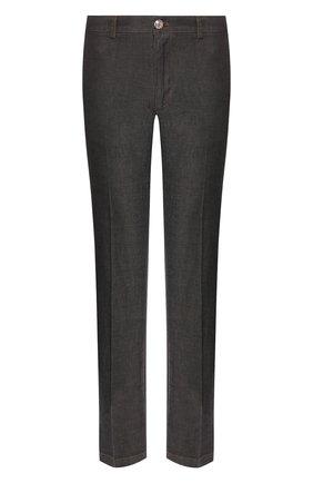 Мужские хлопковые брюки BILLIONAIRE черного цвета, арт. B20C MRT0722 BTE004N | Фото 1