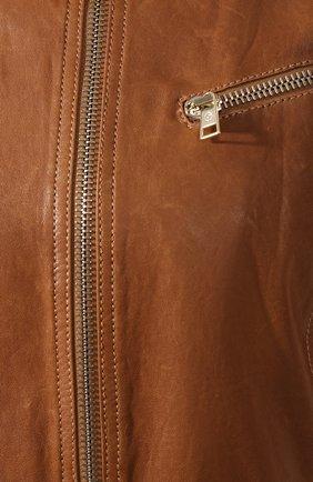 Женская кожаная куртка GIORGIO ARMANI коричневого цвета, арт. 5AB01P/5AP08 | Фото 5