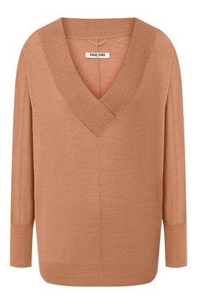 Женская пуловер из смеси шелка и кашемира MAX&MOI коричневого цвета, арт. E20HARLEM | Фото 1