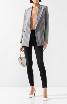 Женская пуловер из смеси шелка и кашемира MAX&MOI коричневого цвета, арт. E20HARLEM | Фото 2
