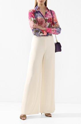 Женские брюки RALPH LAUREN кремвого цвета, арт. 290790460 | Фото 2 (Материал внешний: Синтетический материал, Вискоза; Материал подклада: Шелк; Женское Кросс-КТ: Брюки-одежда; Длина (брюки, джинсы): Удлиненные; Силуэт Ж (брюки и джинсы): Широкие; Статус проверки: Проверена категория; Стили: Кэжуэл)