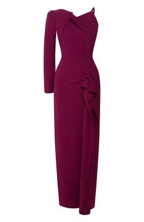 Женское платье-макси ROLAND MOURET фиолетового цвета, арт. PS20/S0837/F2241 | Фото 1