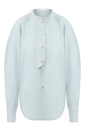 Женская рубашка REJINA PYO голубого цвета, арт. C249/LINEN BLEND   Фото 1