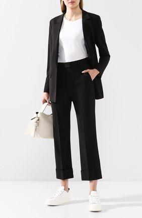 Женские шерстяные брюки ESCADA SPORT черного цвета, арт. 5031874 | Фото 2