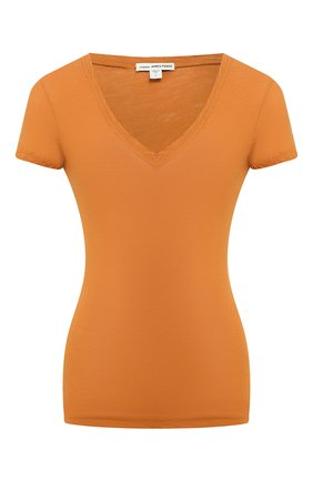 Женская хлопковая футболка JAMES PERSE коричневого цвета, арт. WUA3695 | Фото 1