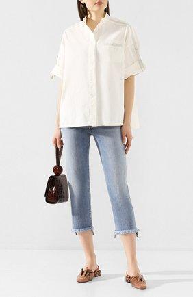 Женская хлопковая рубашка YVES SALOMON белого цвета, арт. 20EYH04070C0XW | Фото 2
