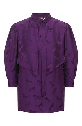 Женская блузка из смеси шелка и вискозы STELLA MCCARTNEY сиреневого цвета, арт. 599776/SNA57 | Фото 1